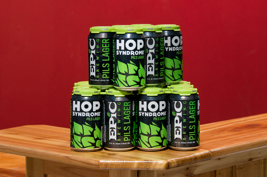 Epic Hop beer can